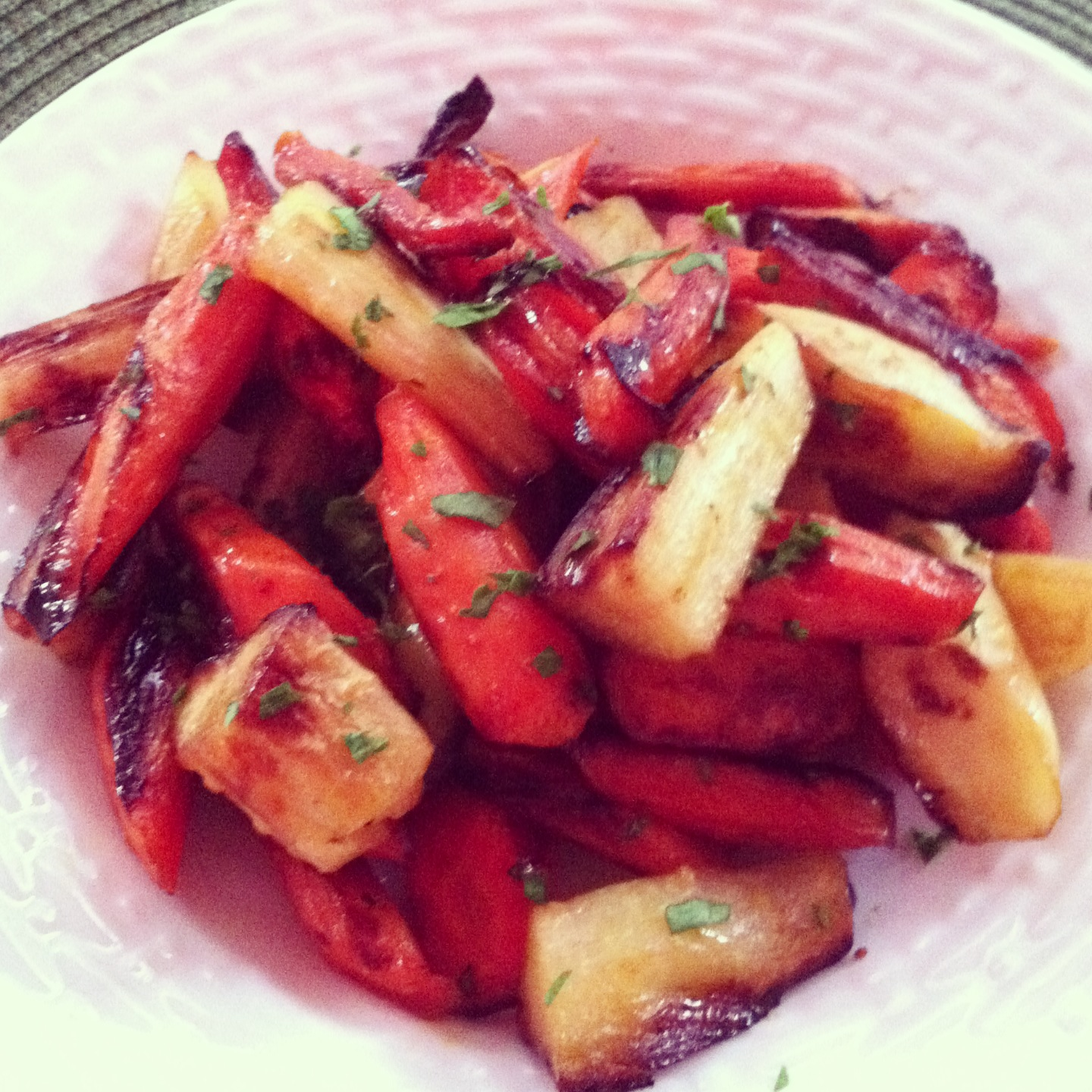 lemon balsamic roasted carrots and parsnips with french citrus fennel ...